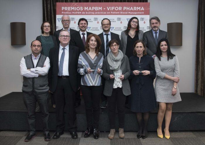 Galardonados Premios MAPBM-Vifor y miembros del jurado